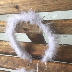 Deja Vu Designs Accessories - White Feather Headband